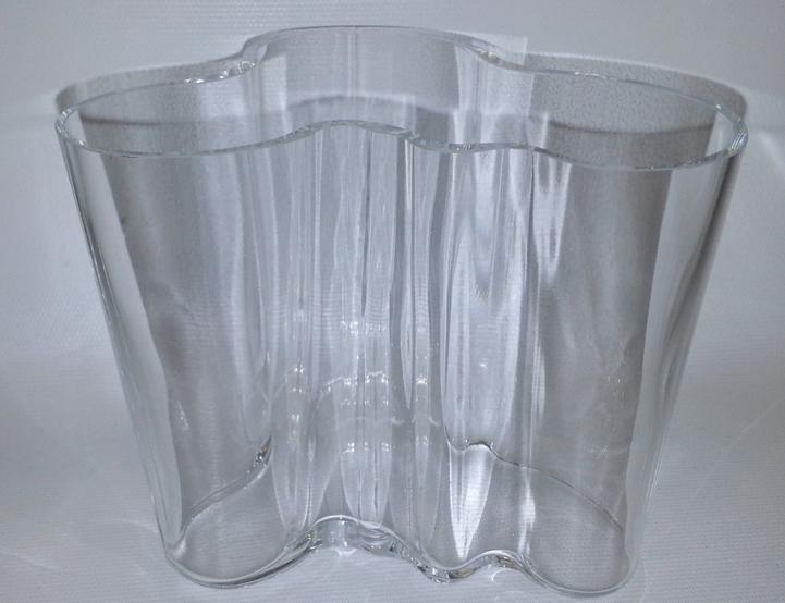 Large Signed Wood Mold Alvar Aalto Vase