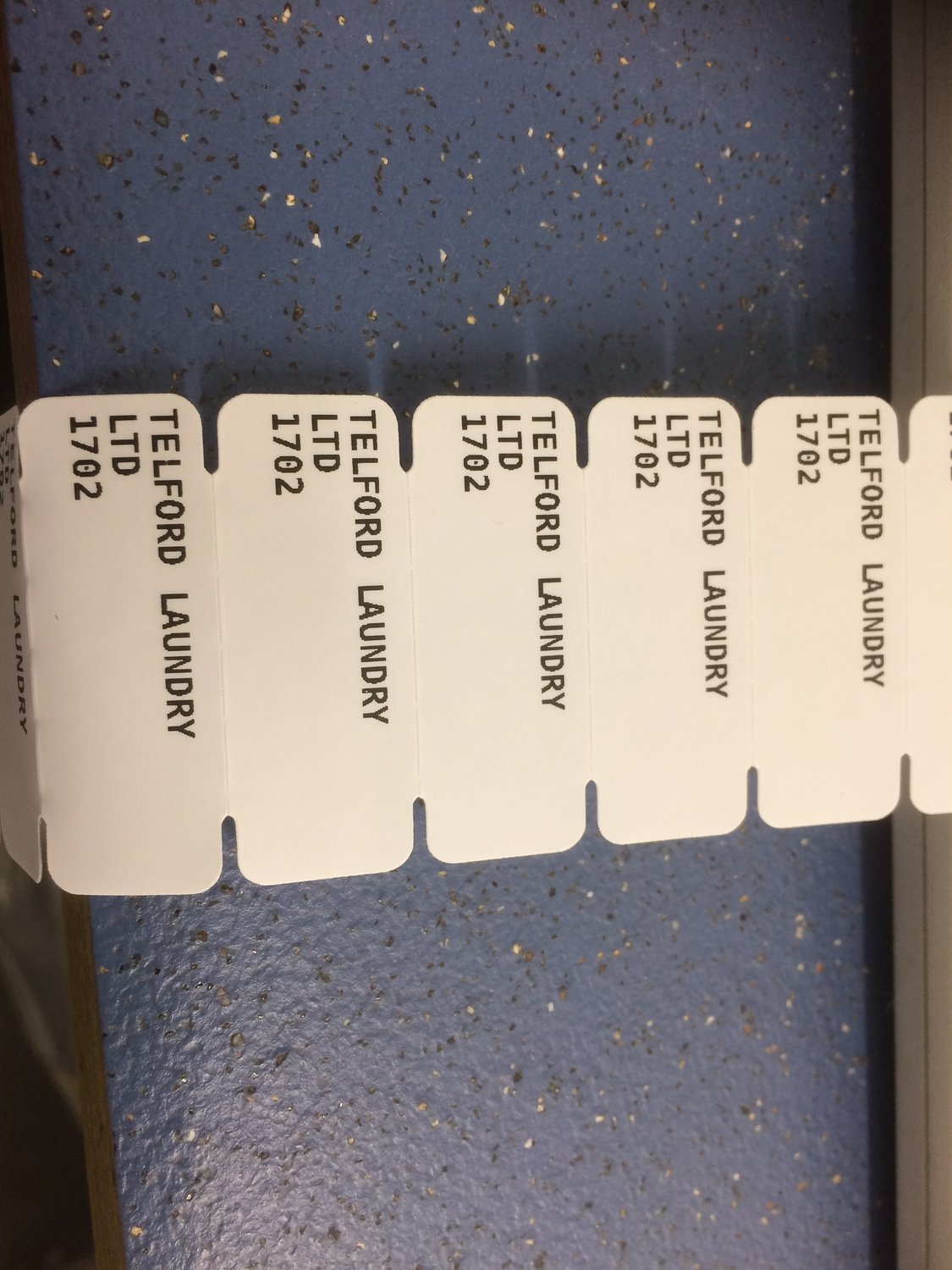 Name Tags, Property of or name. Black on White