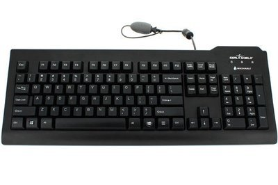 63ba05f3779 Silver Seal Medical Grade Washable Black Keyboard