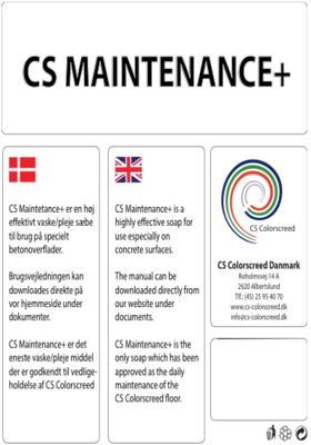 1 liter - CS Maintenance+