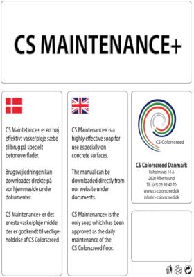 5 liter - CS Maintenance+