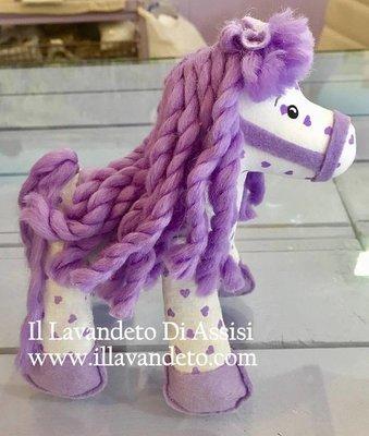 Cavallo in stoffa ripieno di lavanda