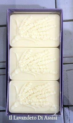 Confezione di n. 3  saponi artigianali lavanda