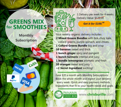 Greens Mix for Smoothies
