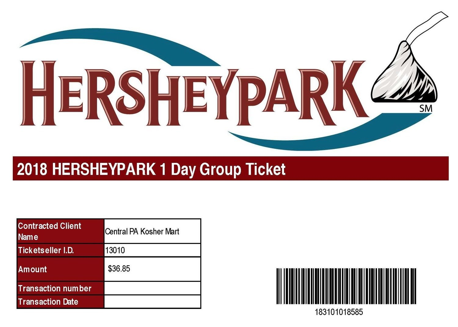 Group Ticket- Purchase 20 or more  Deadline March 31st.