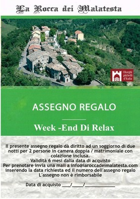 COFANETTO REGALO WEEK-END DI RELAX