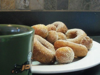 Apple Cider Donuts: 12 Donuts 24 holes