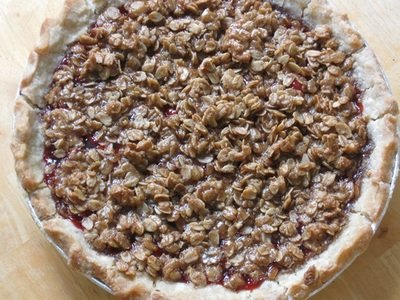 Cherry Crumble Pie -- Gluten Free