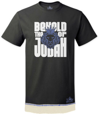 Men's Behold Lion of Judah T-shirt with fringe