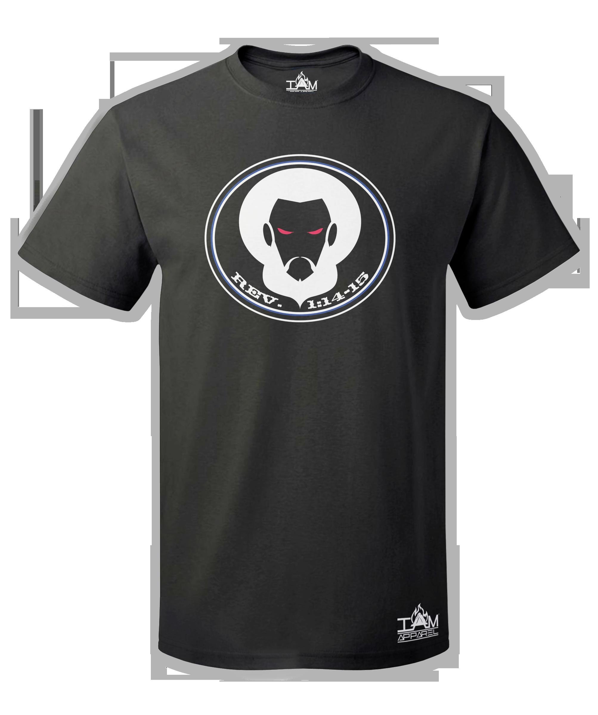GOCC Men's Short Sleeved with image of Christ Black T-Shirt 00063