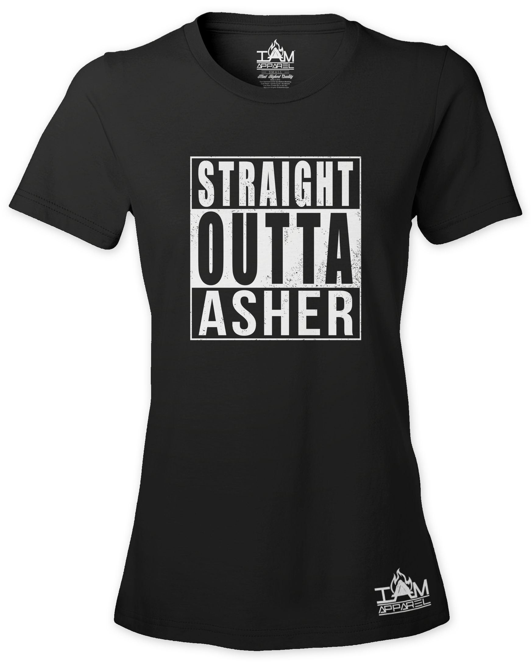 """Women's """"Straight Outta < TRIBE NAME > Short Sleeved T-shirt"""