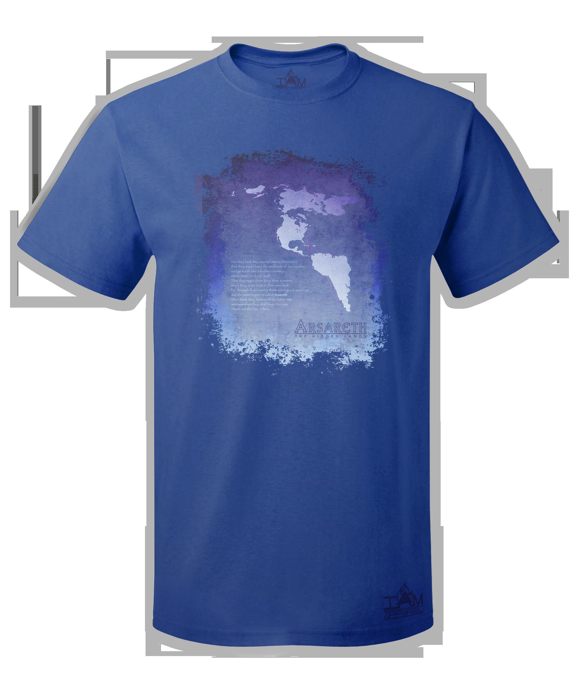 """Men's """"Arsareth""""  Short Sleeved Blue T-shirt 00056"""
