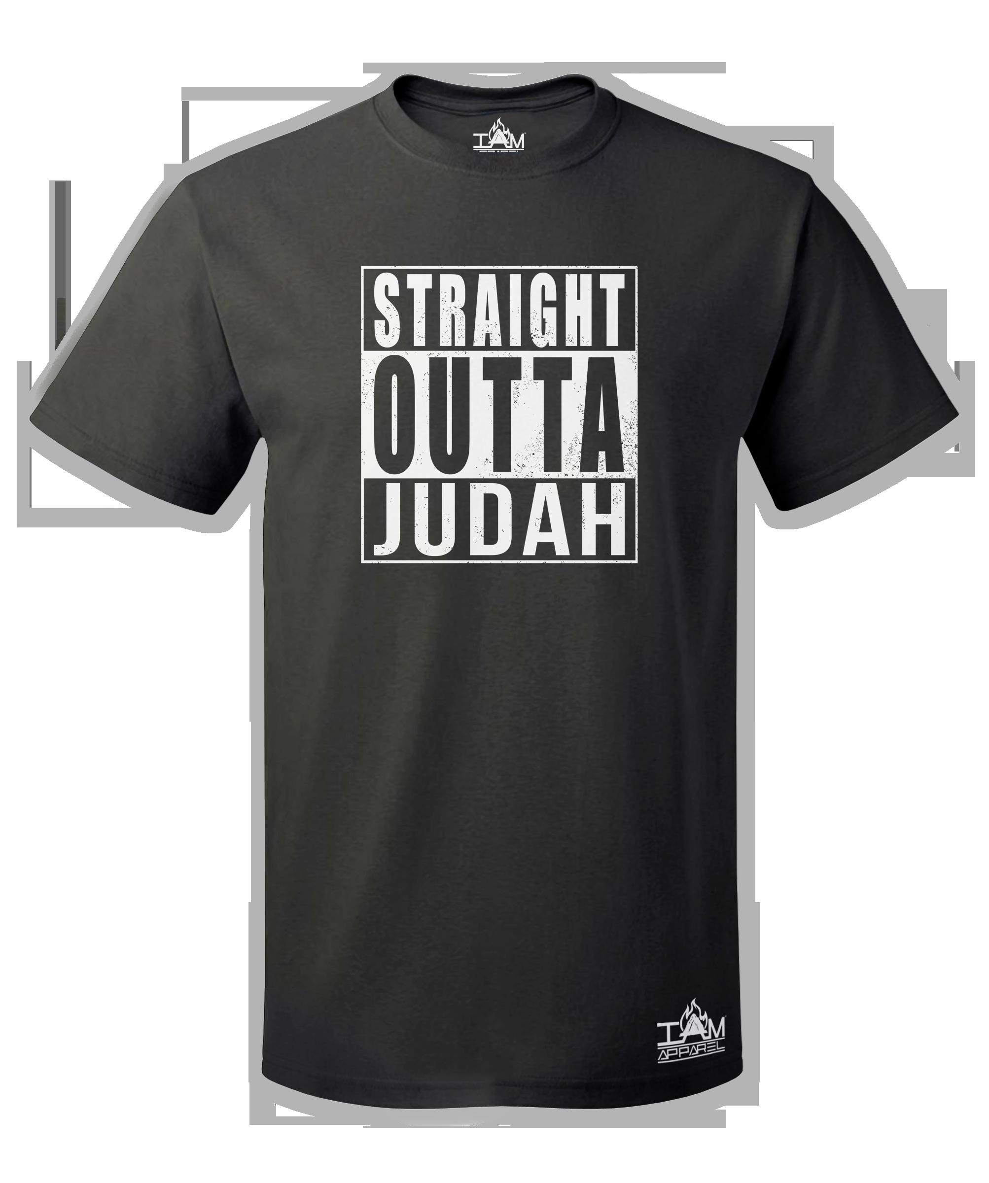 """Men's """"Straight Outta  <Tribe Name> Black Short Sleeved T-shirt 00052"""
