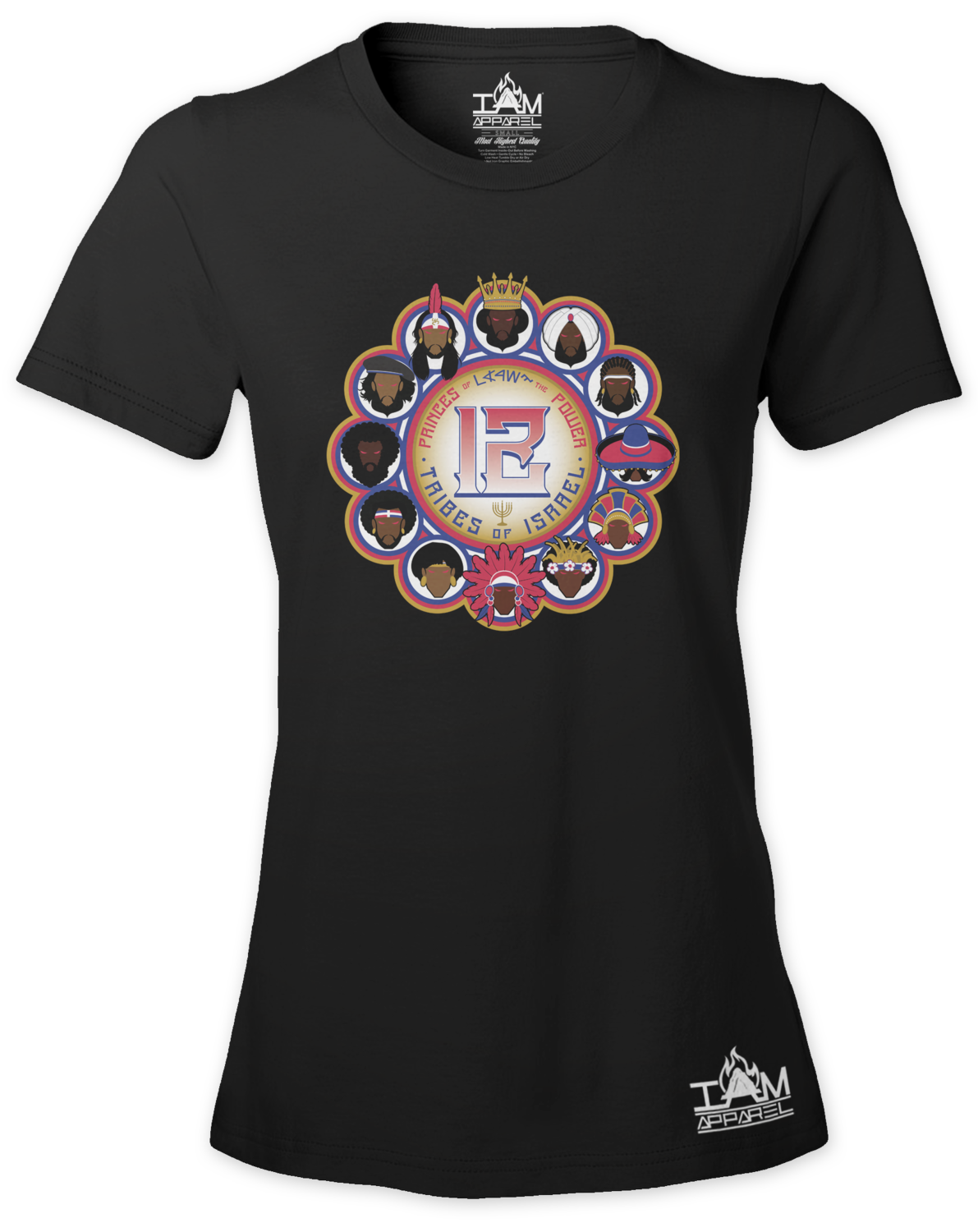 12 Tribes Image Woman's  Short Sleeved T-shirt