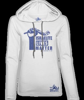 Women's Israelite Lives Matter White Hoodie
