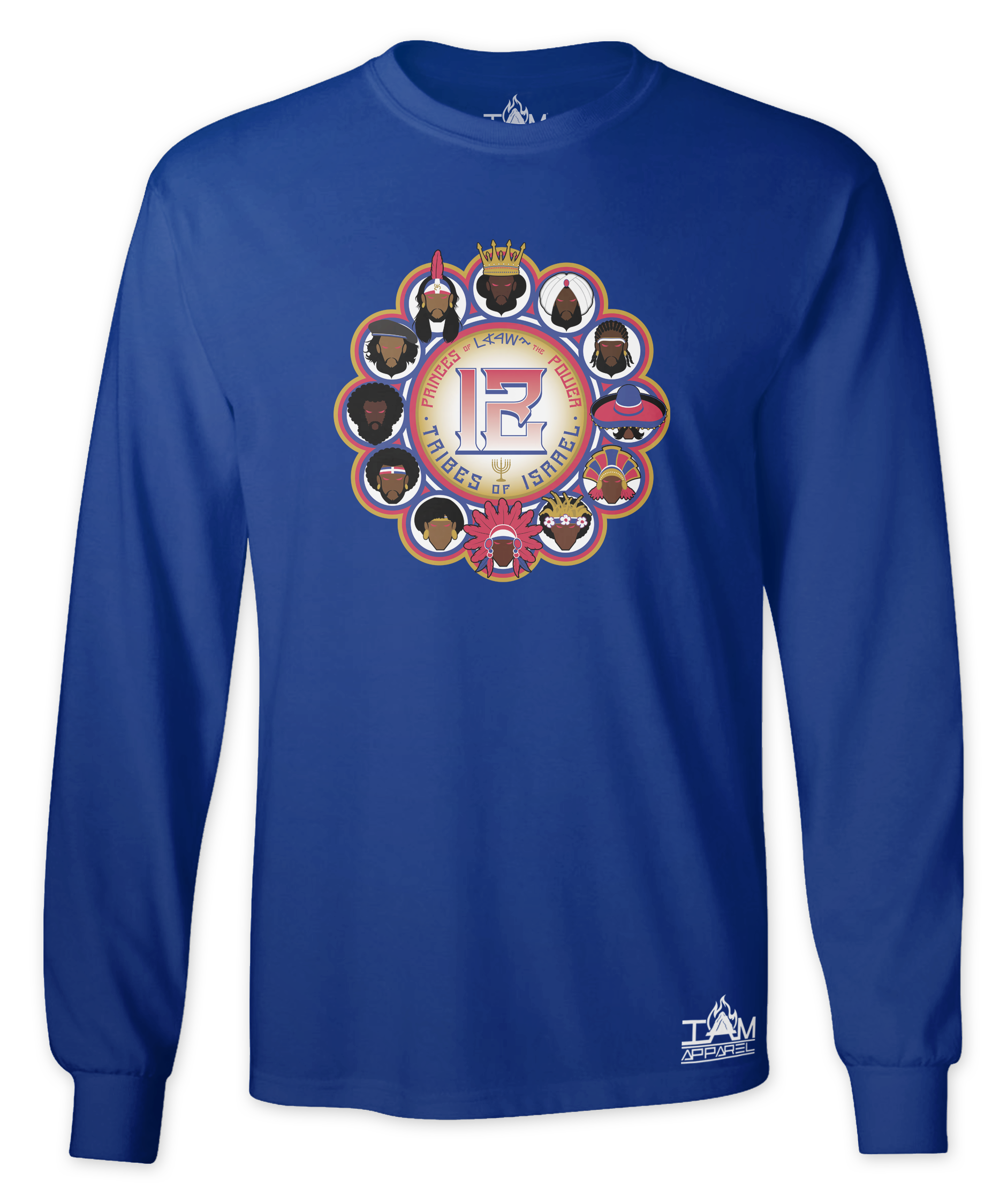 """Men's """"12 Tribes of Israel"""" Long Sleeved T-shirt 00109"""