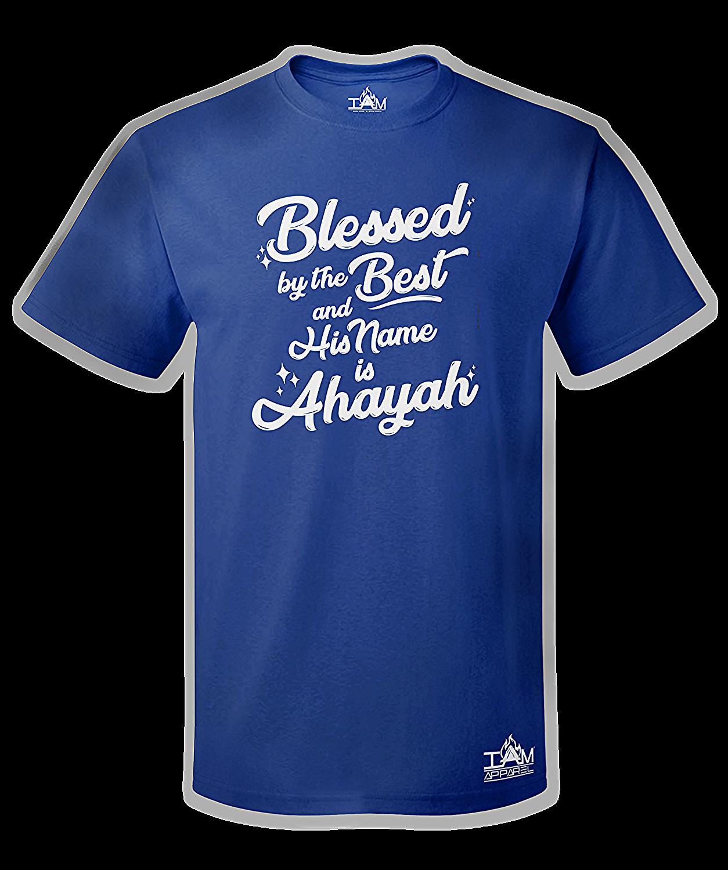 Men's Blessed by the best Short Sleeved BlueT-shirt