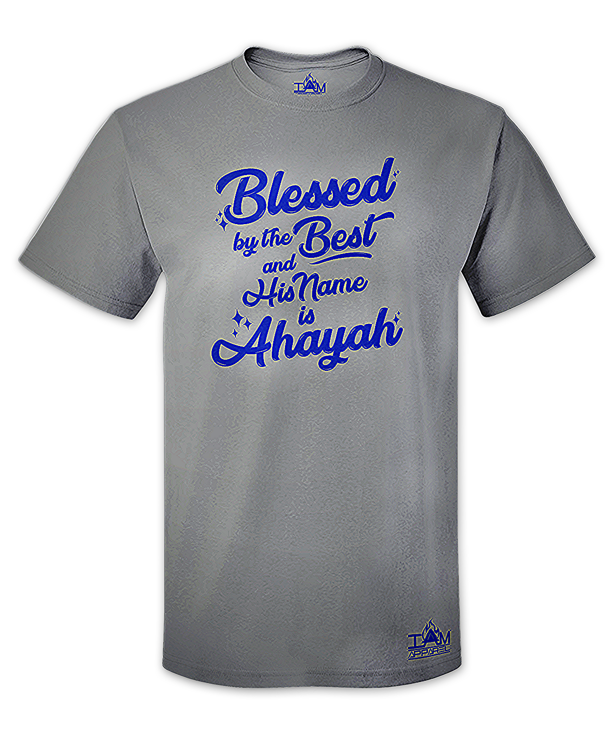 Men's Blessed by the best Short Sleeved Grey T-shirt
