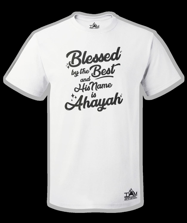 Men's Blessed by the best Short Sleeved White T-shirt