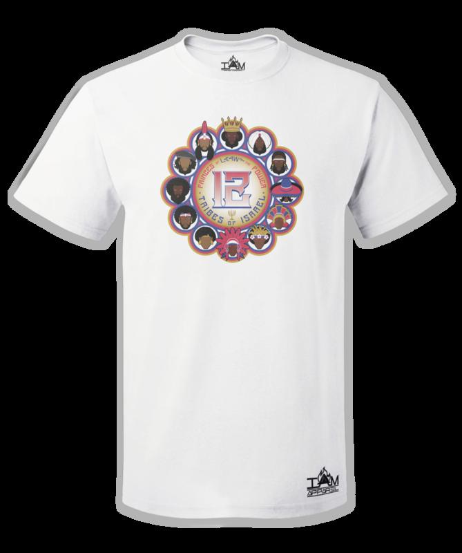 12 Tribes Image Man's Short Sleeved White T-shirt