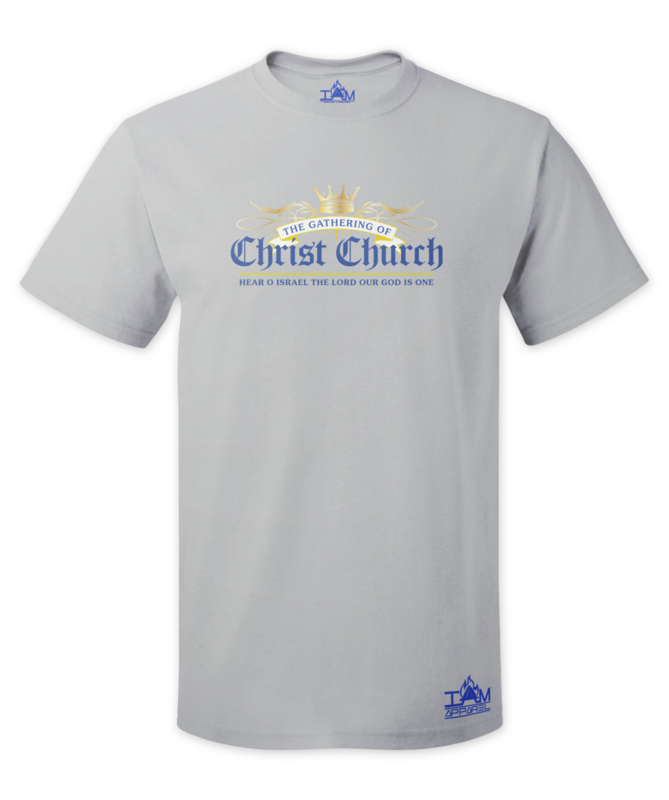GOCC Men's Short Sleeved Grey T-shirt