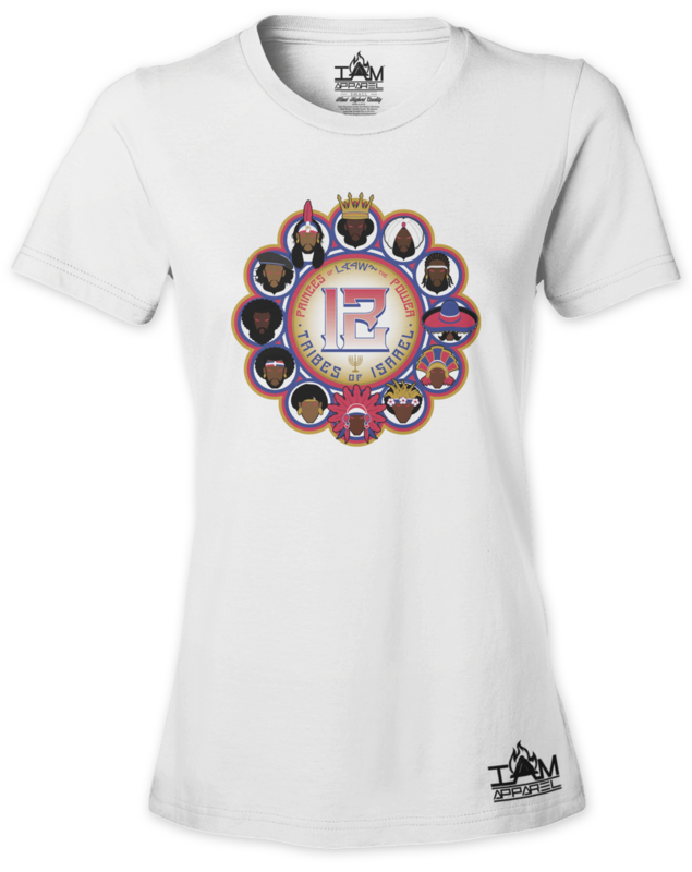 12 Tribes Image Woman's  Short Sleeved White T-shirt