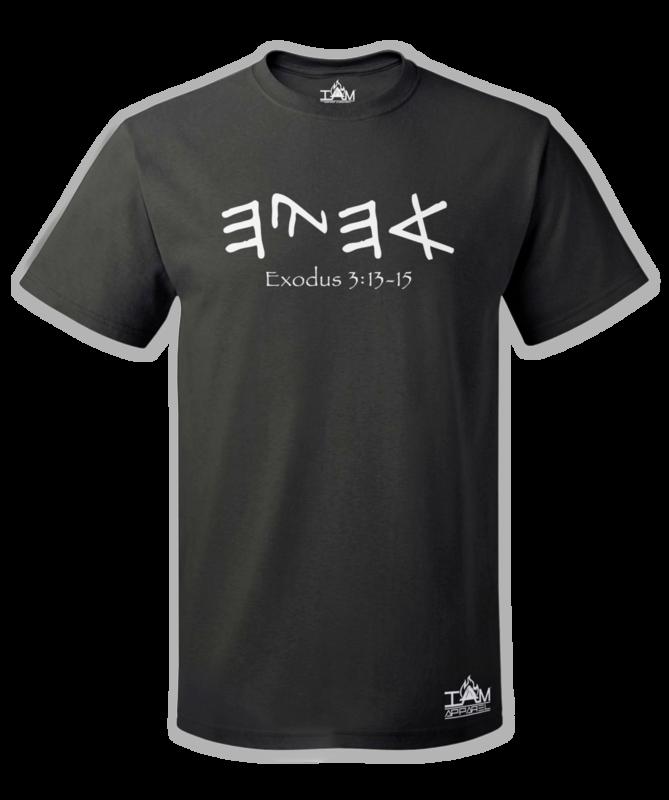 "GOCC Men's ""Ahayah"" Short Sleeved Black T-shirt"