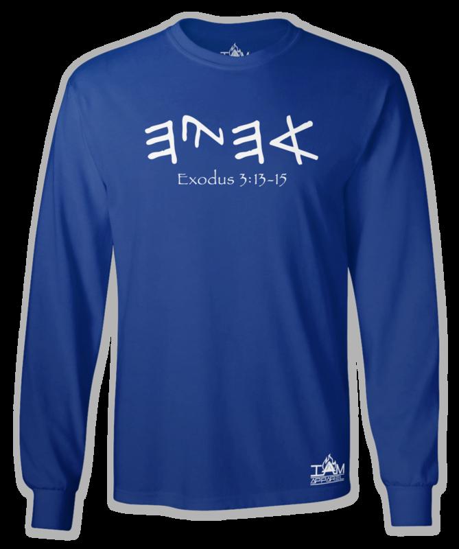 """GOCC Men's """"Ahayah"""" Long Sleeved Blue T-shirt"""