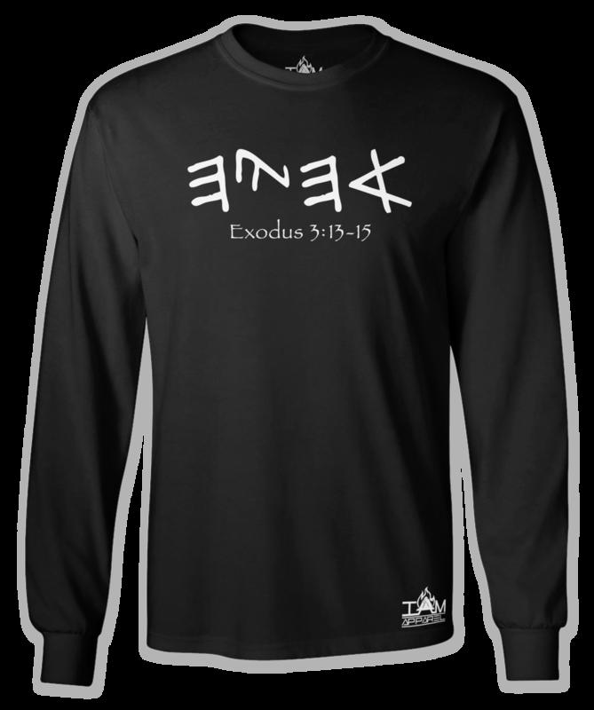 "GOCC Men's ""Ahayah"" Long Sleeved Black T-shirt"