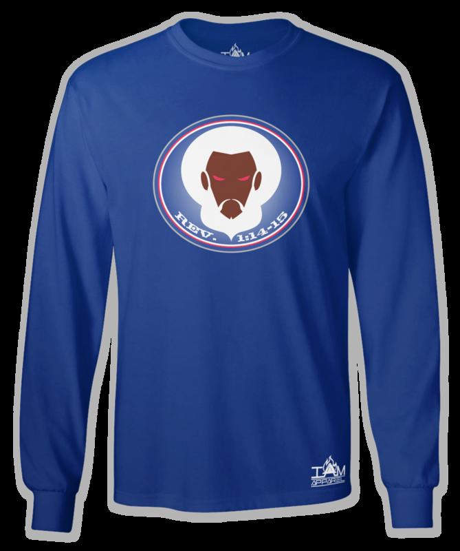 GOCC Men's Long Sleeved Blue T-Shirt