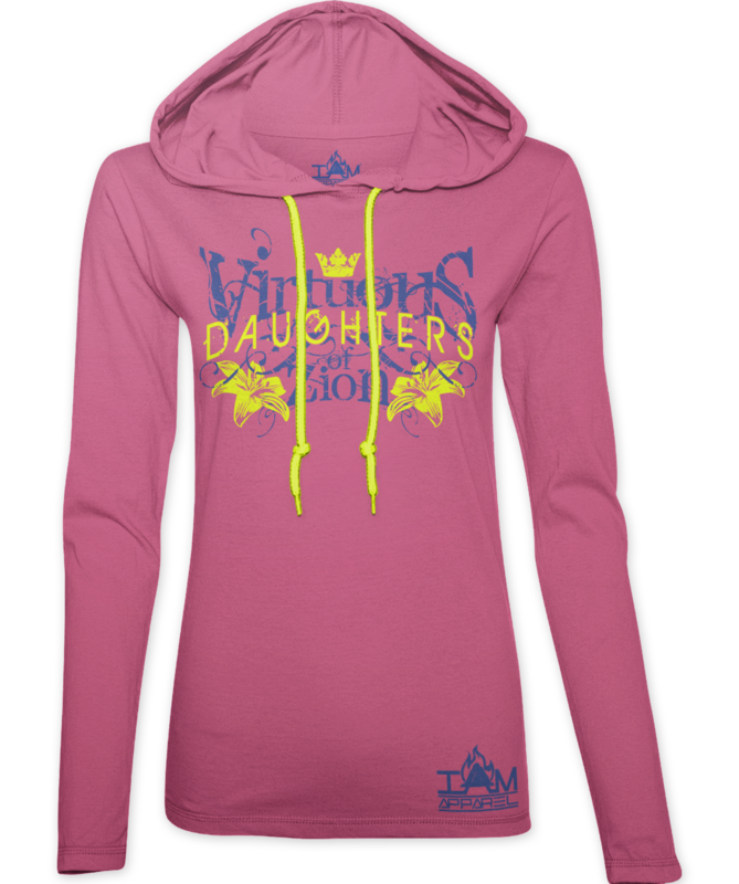 Women's Virtuous Daughters of Zion Pink Hoodie
