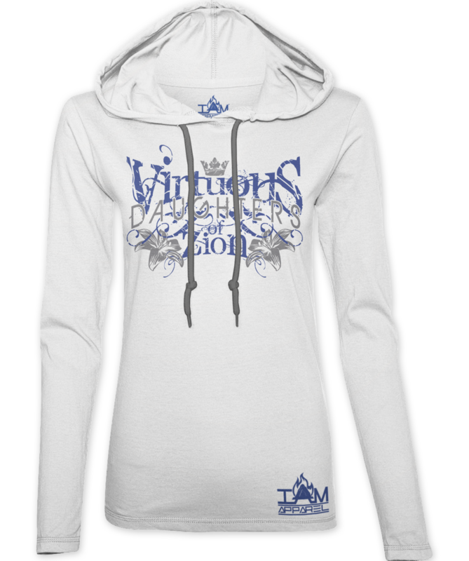 Women's Virtuous Daughters of Zion White Hoodie