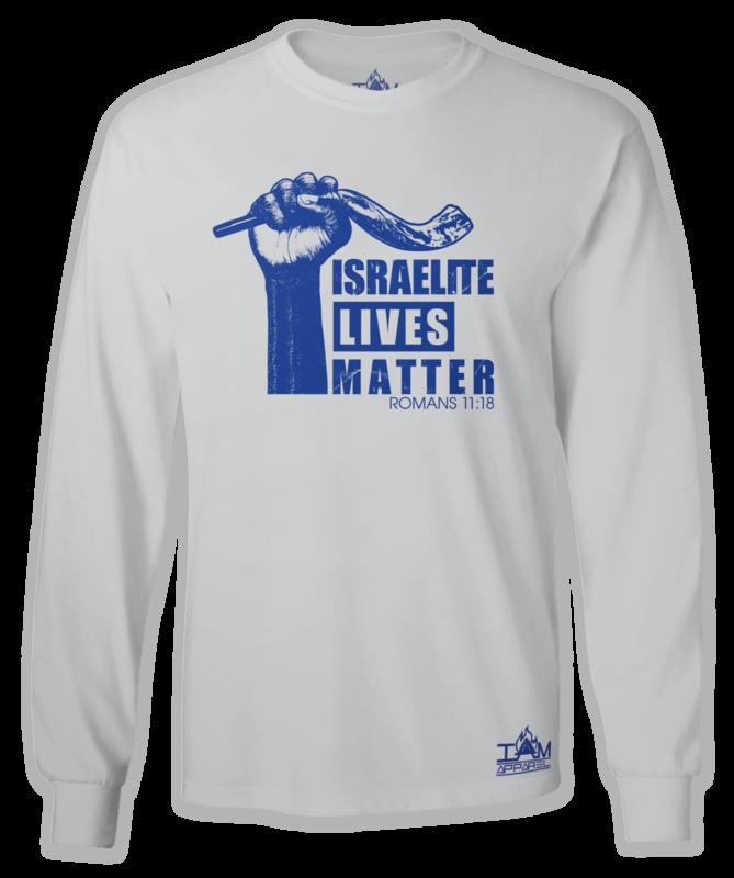 """""""Israelite Lives Matter"""" Men's Long Sleeved Grey T-shirt"""