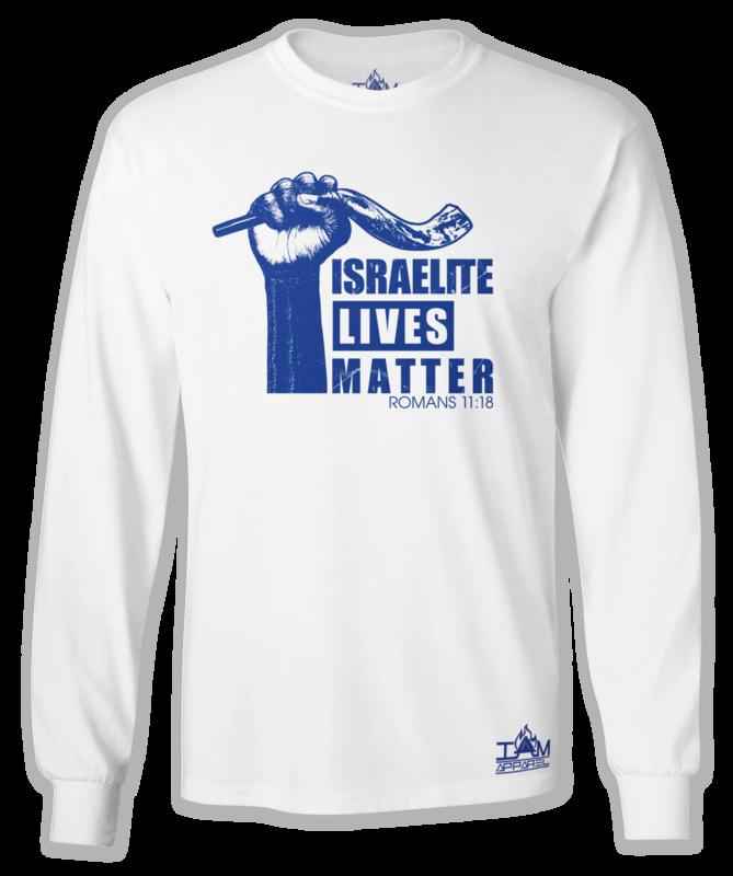 """""""Israelite Lives Matter"""" Men's Long Sleeved White T-shirt"""