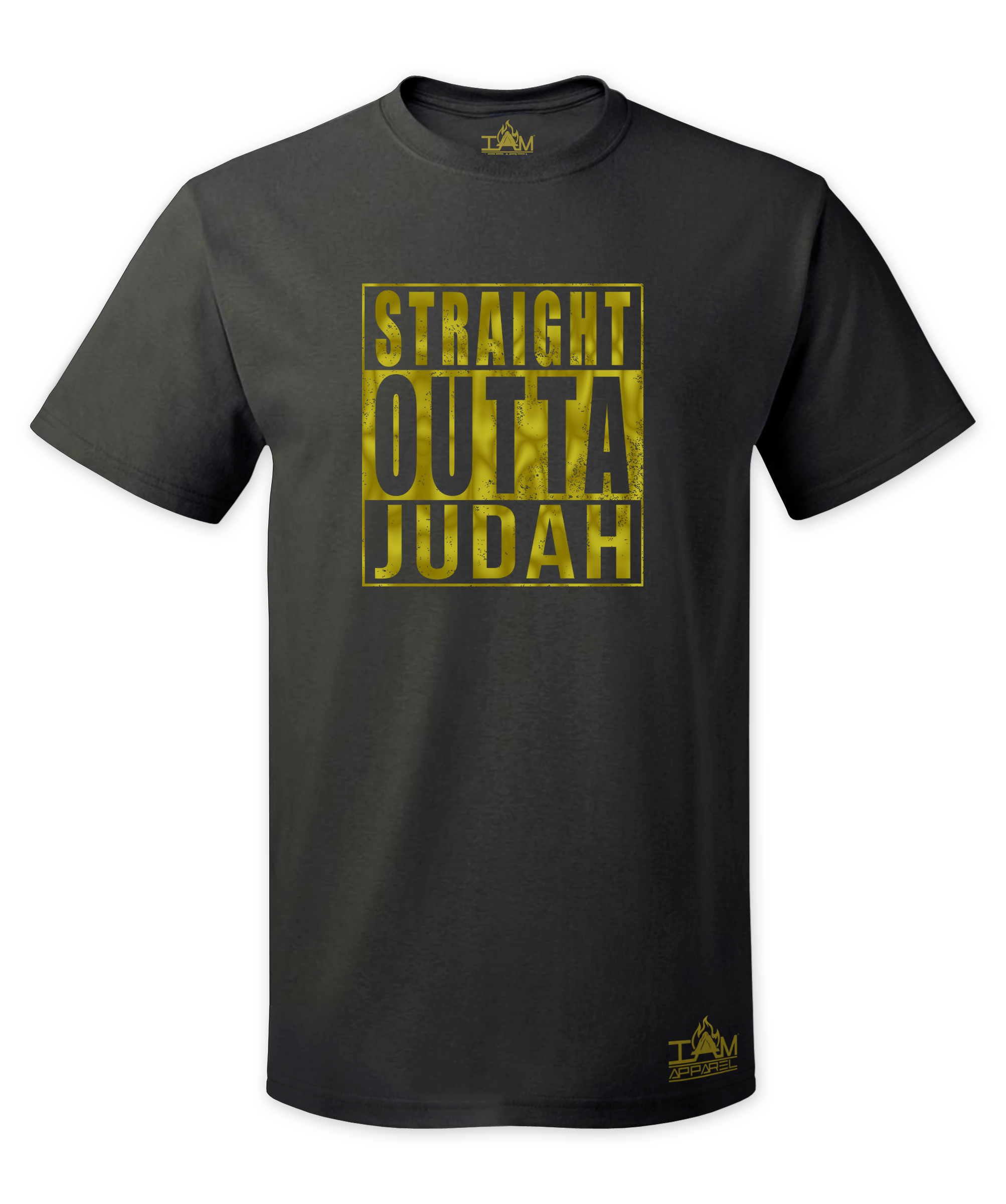 "Men's GOLDEN SERIES ""Straight Outta  <Tribe Name> Black Short Sleeved T-shirt"