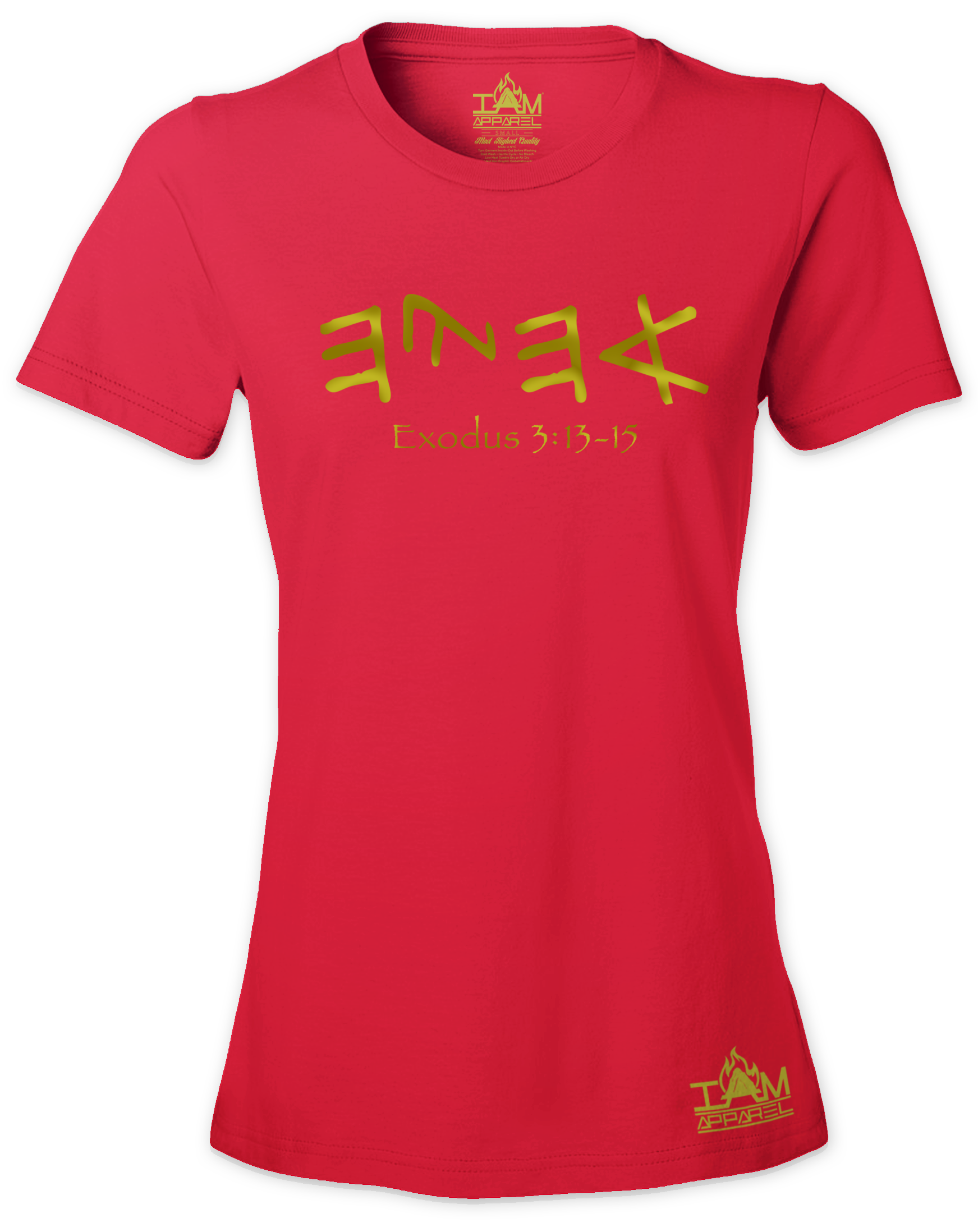"Women's GOLDEN SERIES ""Ahayah"" Short Sleeved T-shirt 00126"