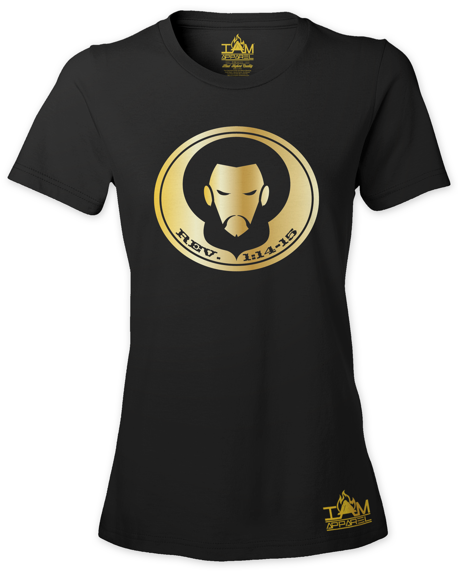 Women's GOLDEN SERIES Short Sleeved Scripture and Image of Christ T-shirt 00128