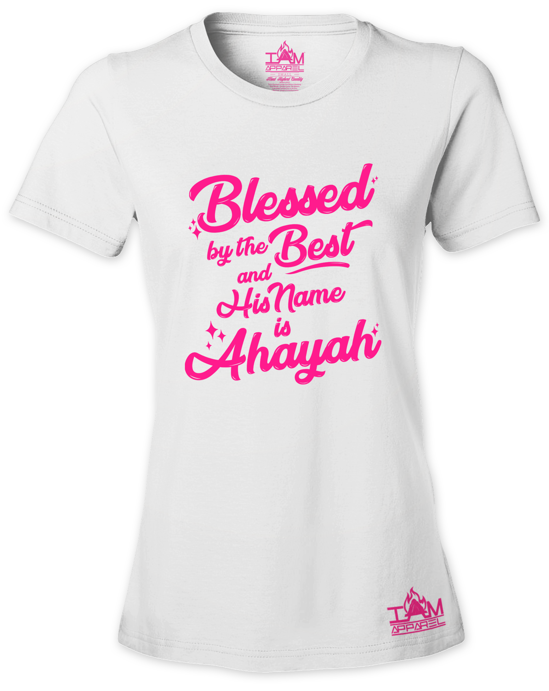 Woman's  HOT PINK SERIES Blessed by the best  Short Sleeved T-shirt 00135