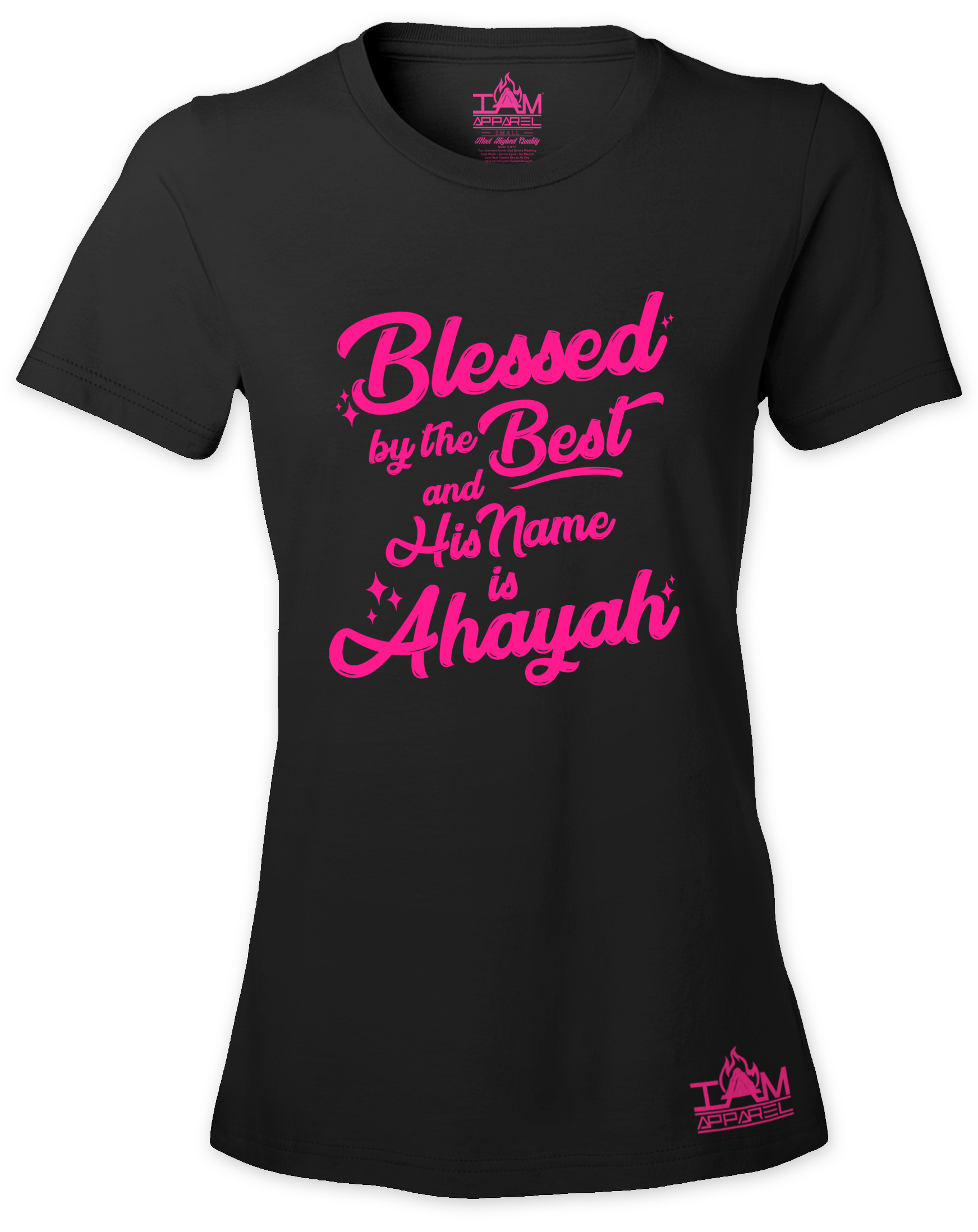 Woman's  HOT PINK SERIES Blessed by the best  Short Sleeved T-shirt