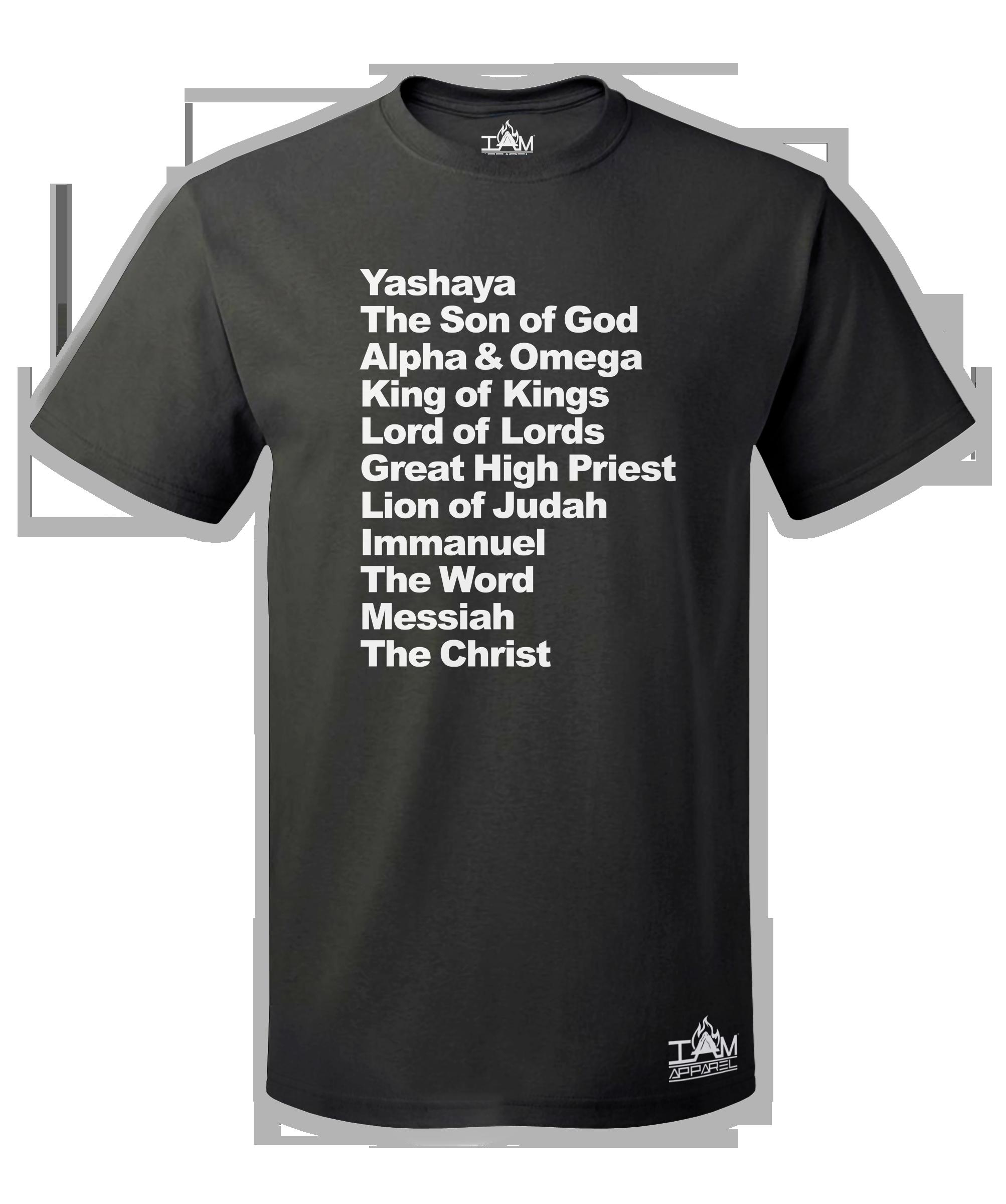 Men's Yashaya Text Short Sleeved T-shirt