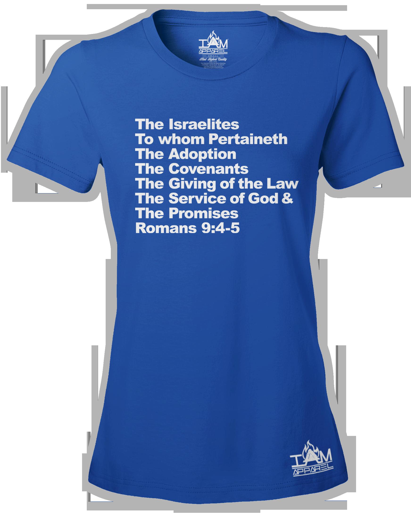 Women's Israelites Text Short Sleeved T-shirt 00144