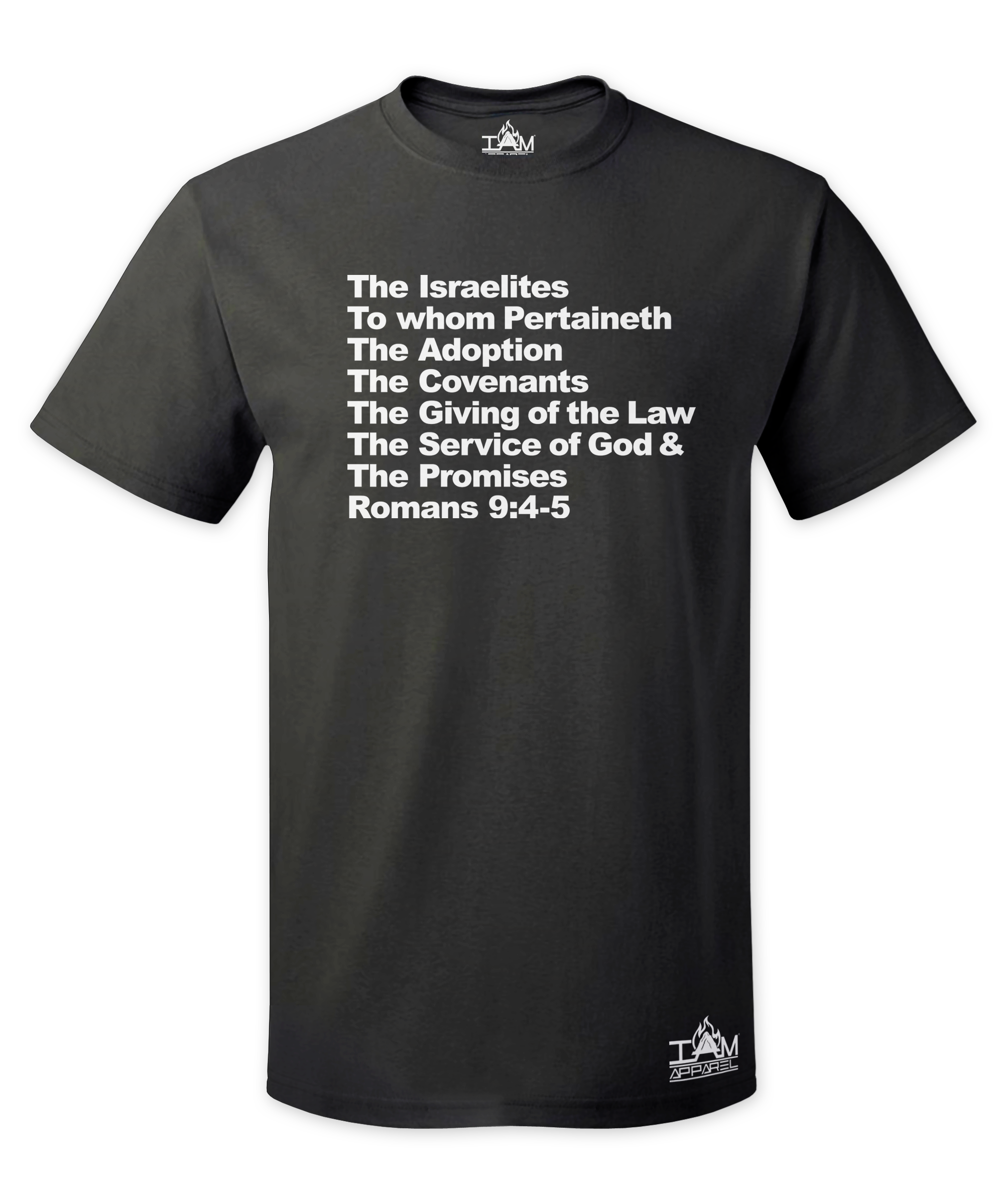 Men's Israelites Text Short Sleeved T-shirt 00139