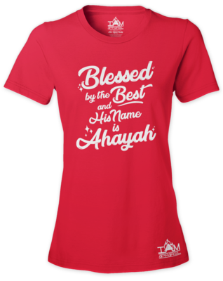 Woman's Blessed by the best  Short Sleeved T-shirt