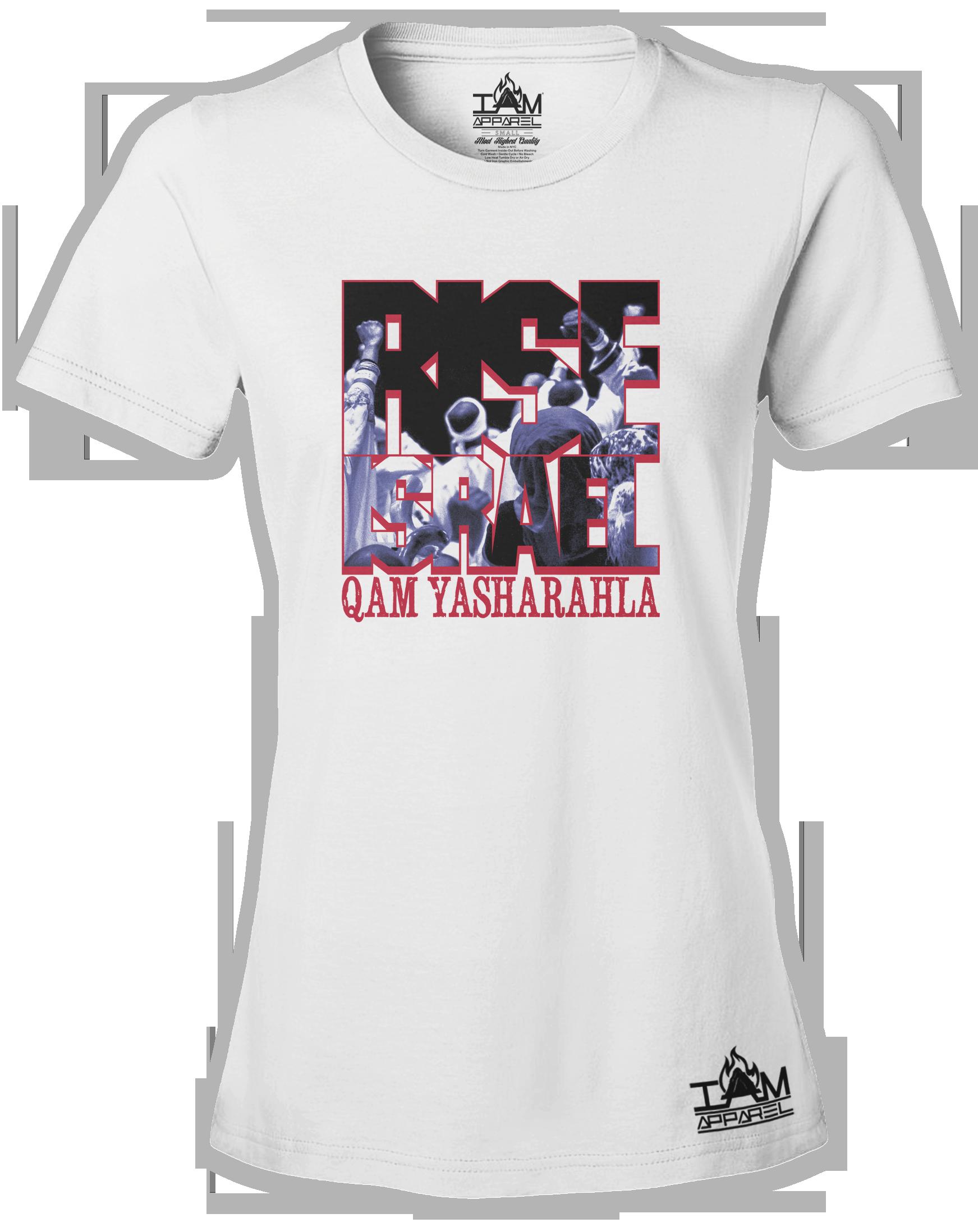"Women's ""RISE ISRAEL"" Short Sleeved T-shirt 00153"
