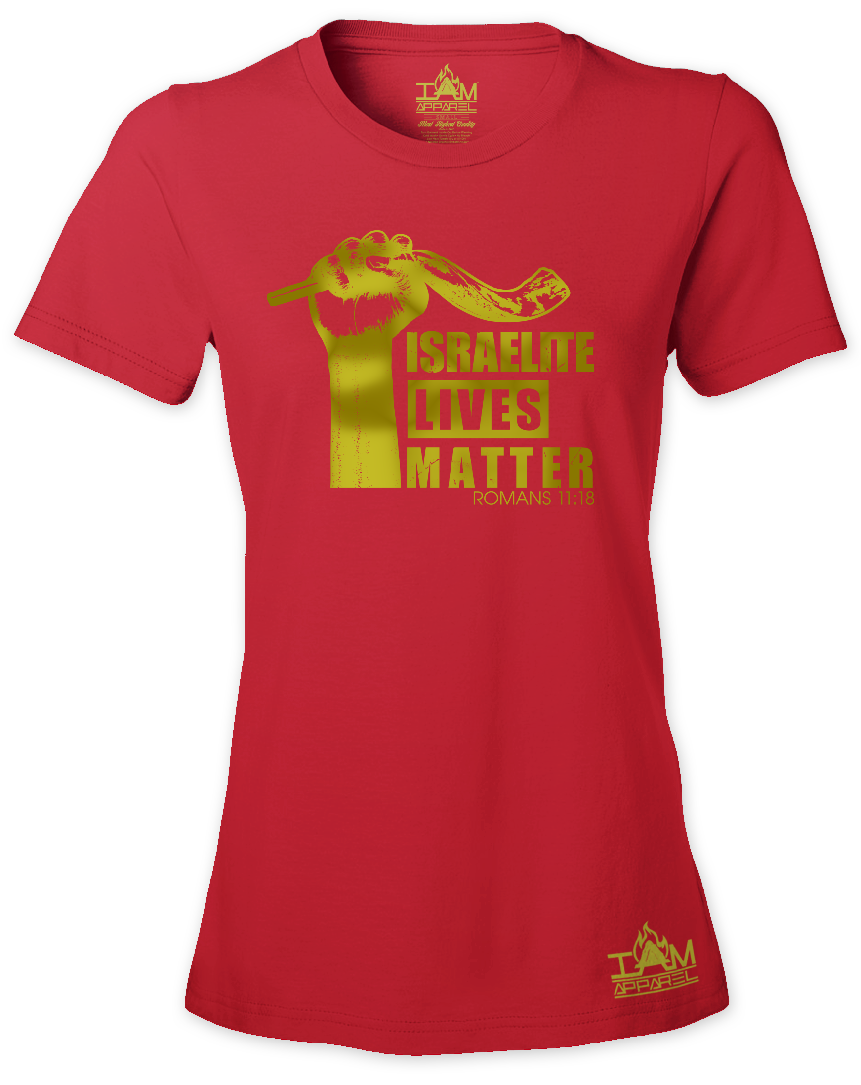 """Womens Israelite Lives Matter """"GOLDEN SERIES"""" Short Sleeved T-shirt 00036"""