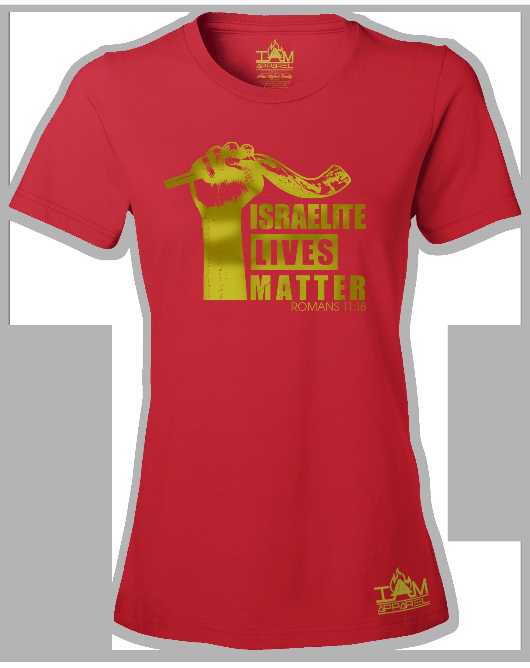 """Womens Israelite Lives Matter """"GOLDEN SERIES"""" Short Sleeved T-shirt"""