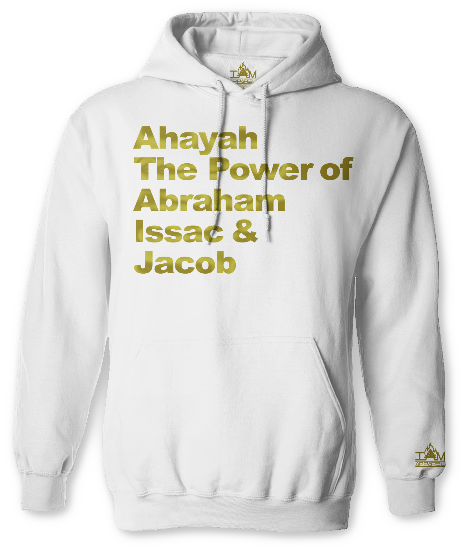 "Men's ""GOLDEN SERIES"" ""Ahayah Power Text"" Long Sleeved Pullover"