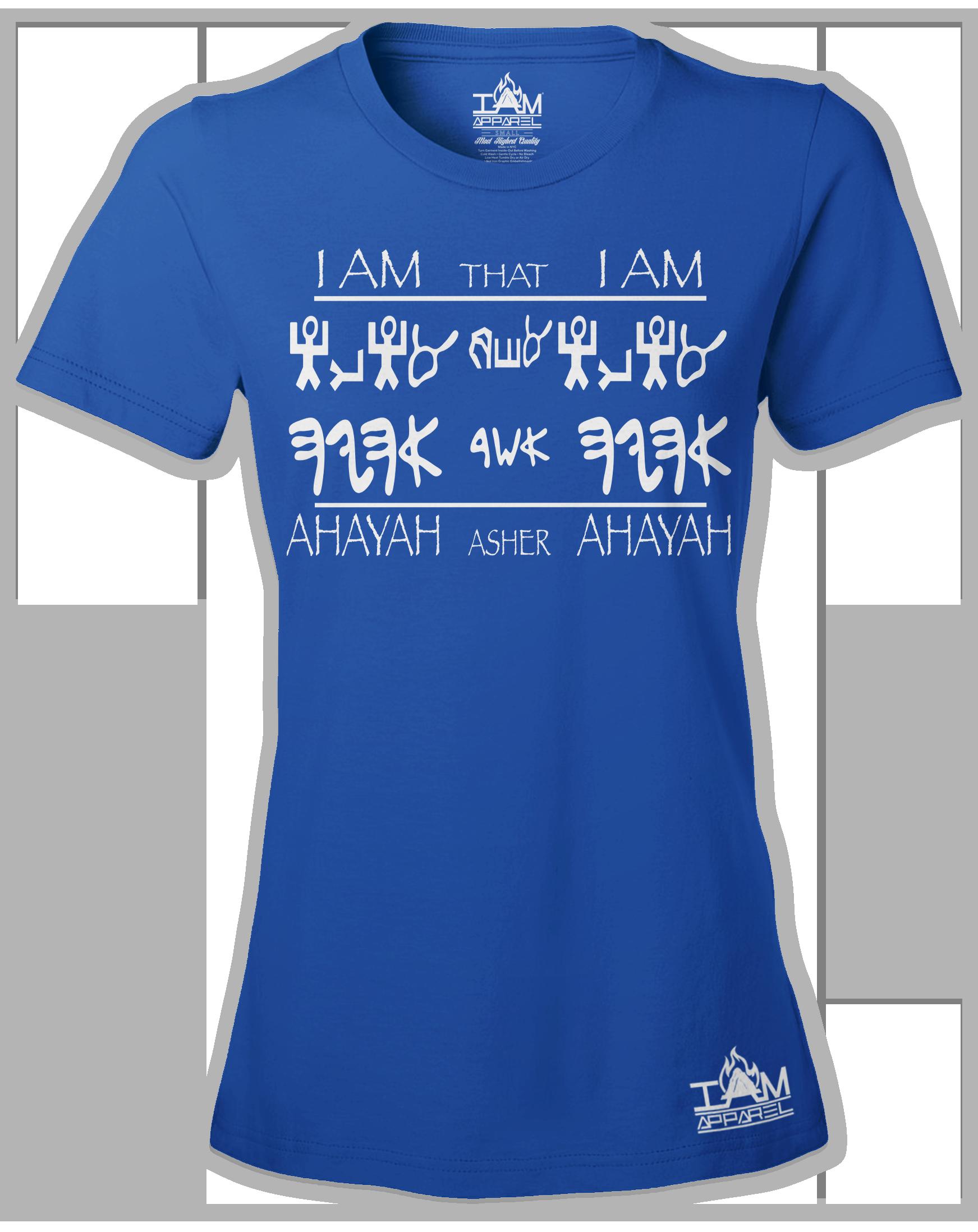 """Women's Short Sleeved """"Ahayah Design"""" T-shirt 00191"""