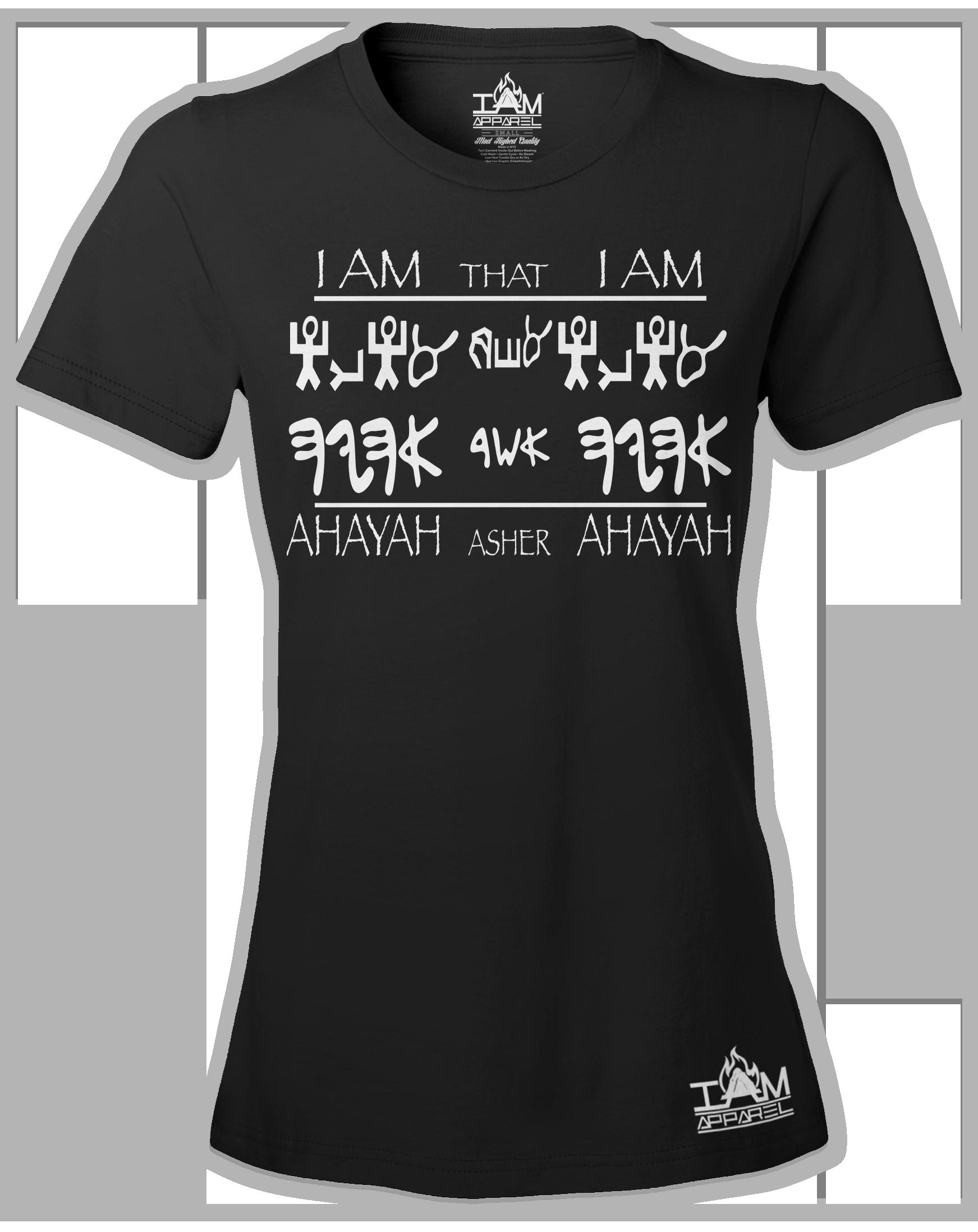"""Women's Short Sleeved """"Ahayah Design"""" T-shirt"""