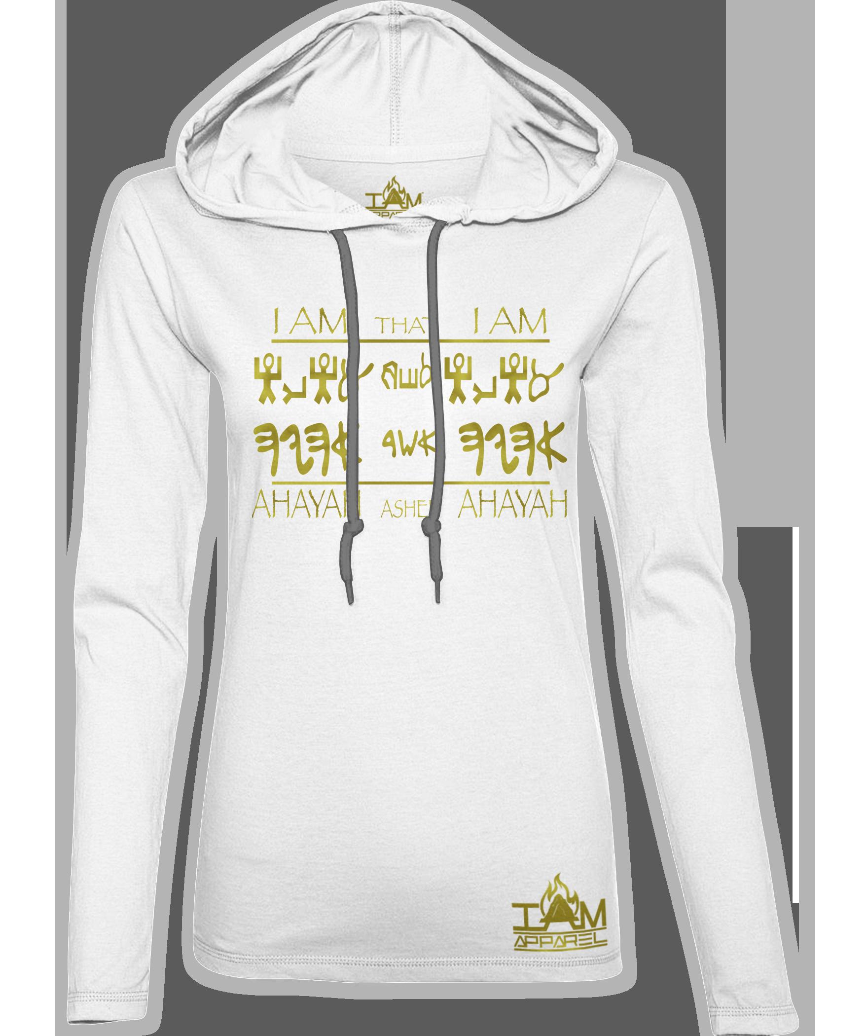 """Women's """"GOLDEN SERIES"""" Ahayah Design Hoodie 00194"""